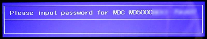 запрос пароля установленного с помощью BIOS
