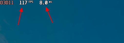 отображение FPS и времени кадра в игре
