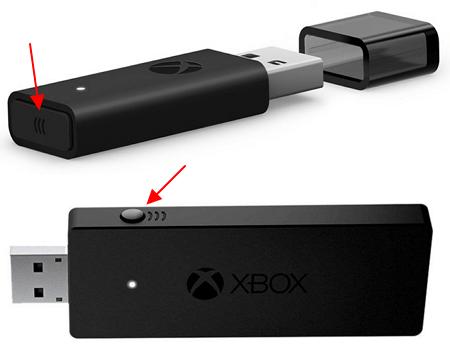 кнопка на Xbox адаптере