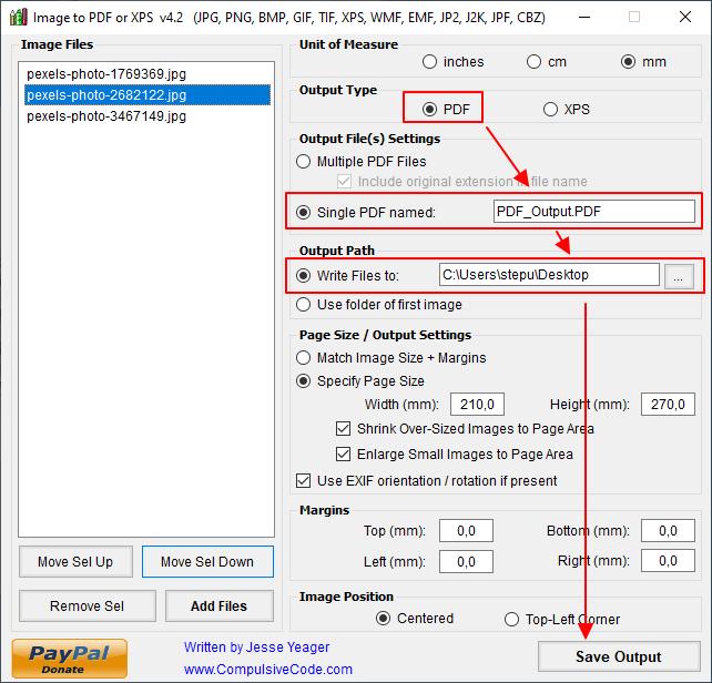 сохранение картинок в PDF файл