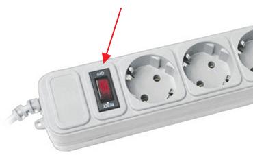 кнопка на сетевом фильтре