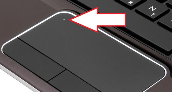 сенсорная кнопка для отключения тачпада