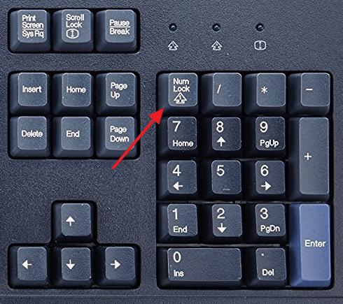кнопка Num Lock на клавиатуре