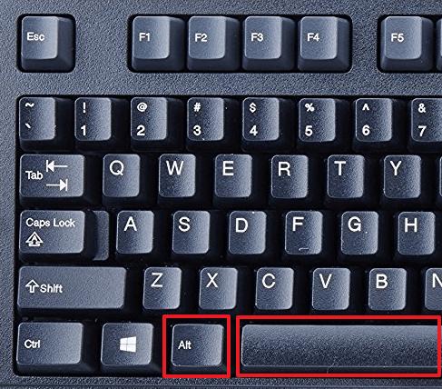 комбинация клавиш Alt-Space (Alt-Пробел)
