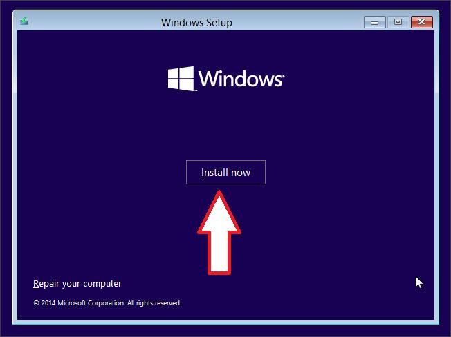 нажимаем на кнопку Install now