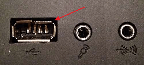 поврежденный USB разъем