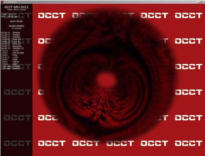 тестирование видеокарты с помощью программы OCCT