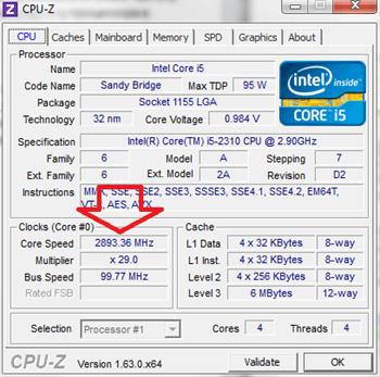 частота процессора