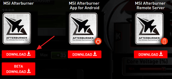 загрузка MSI Afterburner