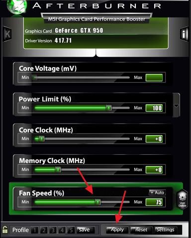 управление скоростью кулера видеокарты