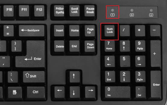 клавиша и индикатор Num Lock на клавиатуре