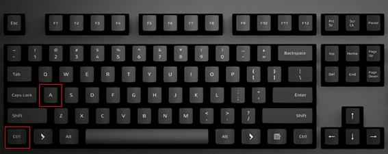CTRL-A на клавиатуре