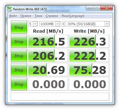 Проверяем скорость жесткого диска с помощью программы CrystalDiskMark