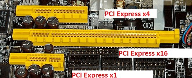 Разъемы на материнской плате: PCI express