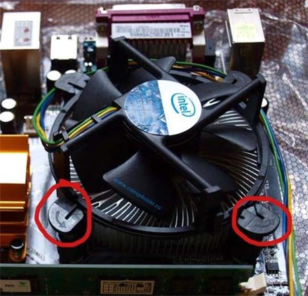 Стандартная система охлаждения от Intel
