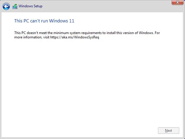 Windows 11 не может быть запущена на этом ПК