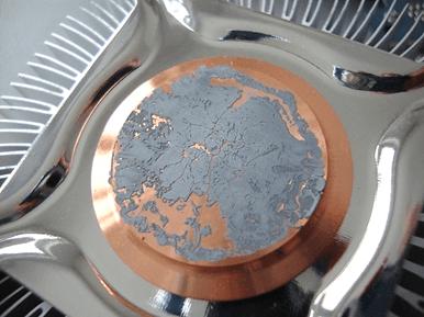 засохшая термопаста на радиаторе процессора