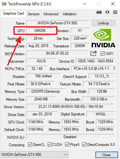 название GPU в GPU-Z