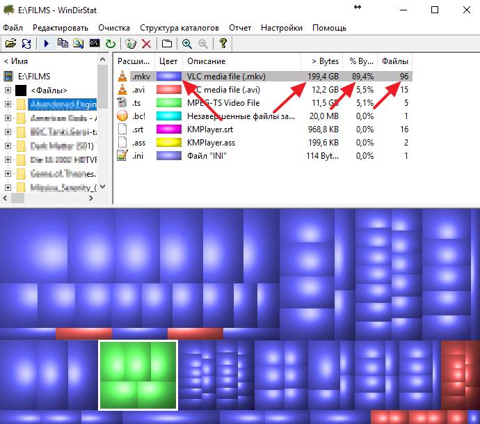 информация о типах файлов