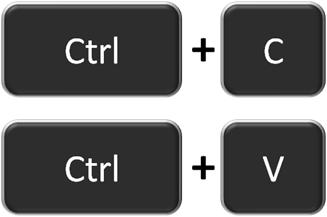 комбинации клавиш для работы с буфером обмена