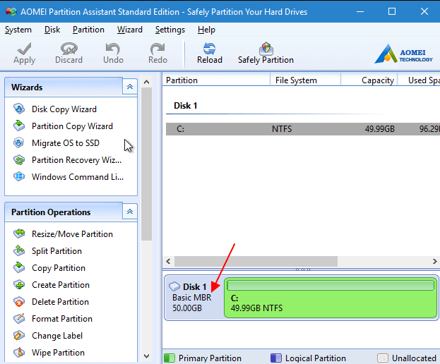 формат жесткого диска - MBR