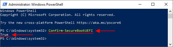 состояние Безопасной загрузки в PowerShell