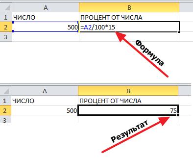 формула с процентом