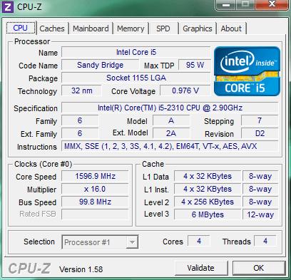 Как узнать характеристики компьютера CPU-Z