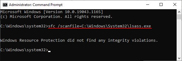 командана sfc /scanfile