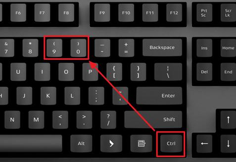комбинации клавиш для скрытия строк и столбцов