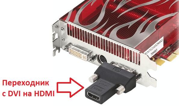 Переходник с DVI на HDMI