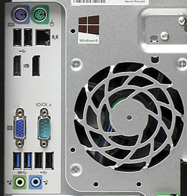 USB порты на задней стороне компьютера