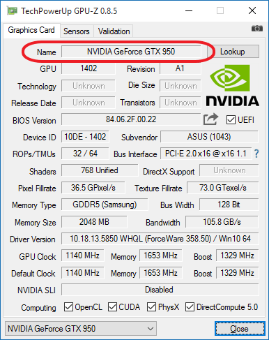 Используем программу GPU-Z