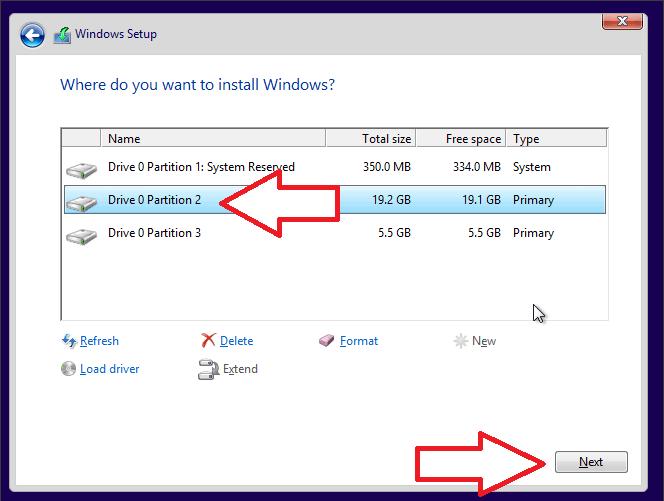 продолжите установку Windows 7