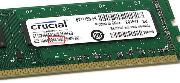 тип оперативной памяти на модуле