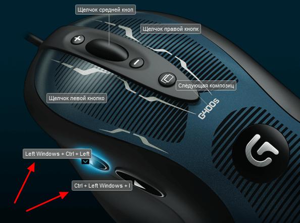 привязка комбинаций клавиш к кнопкам мышки