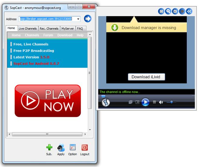 Как пользоваться SopCast: просмотр видео