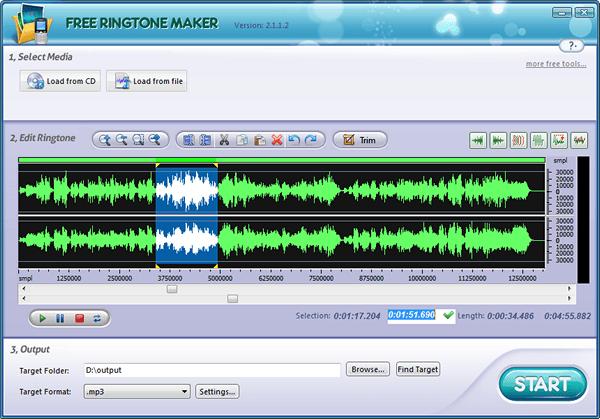 Программа для нарезки музыки: Free Ringtone Maker