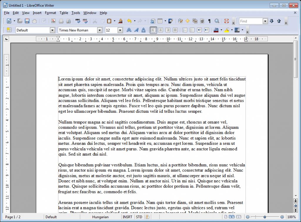 Бесплатный текстовый редактор LibreOffice Writer