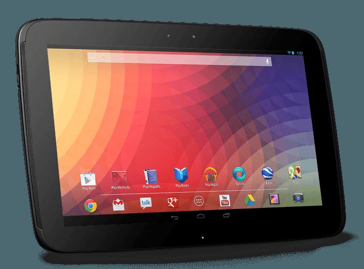 Передняя панель Nexus 10