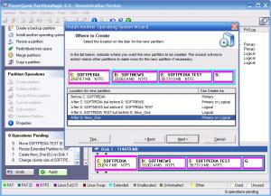 Программа для разбивки жесткого диска Partition Magic