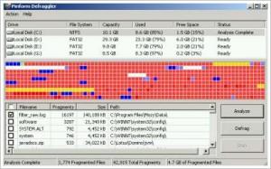 Программа для дефрагментации Piriform Defragger