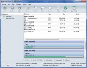 Программа для разбивки жесткого диска Wondershare Disk Manager Free