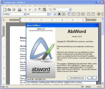 бесплатный текстовый редактор abiword