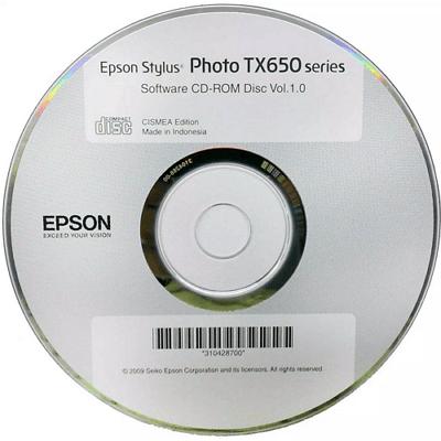 диск с драйверами от принтера