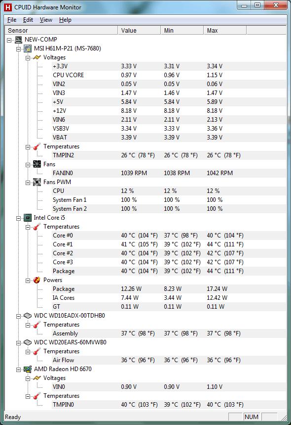 Температура компьютера