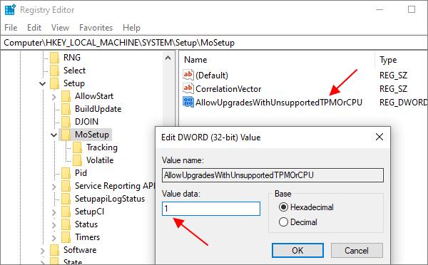 ключ REG_DWORD