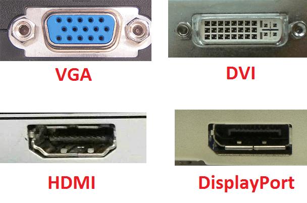Интерфейсы или входы монитора