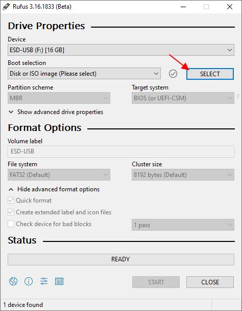 выбрать ISO-образ с Windows 11