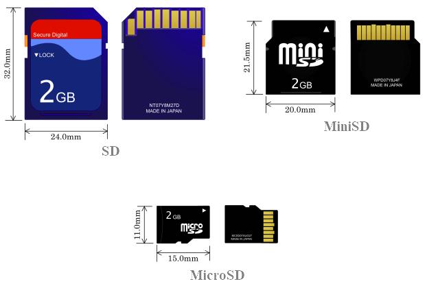сравнение SD и MicroSD